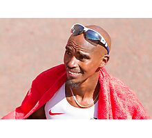 Mo Farah after finishing the London Marathon 2014 Photographic Print