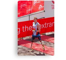 Richard Whitehead at the London Marathon finish line Canvas Print