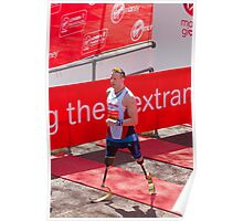 Richard Whitehead at the London Marathon finish line Poster