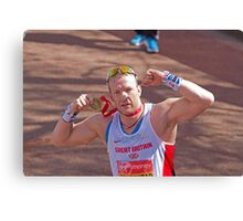 Richard Whitehead with his London Marathon medal Canvas Print