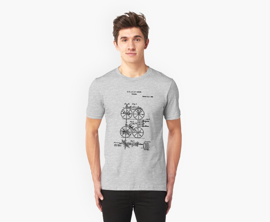 Bike Bicycle Tricycle Velocipede 1868 Hanlon by SportsT-Shirts