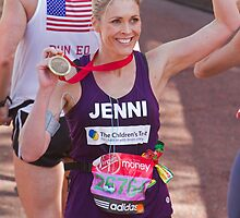 Jenni Faulkner with her London Marathon medal  by Keith Larby