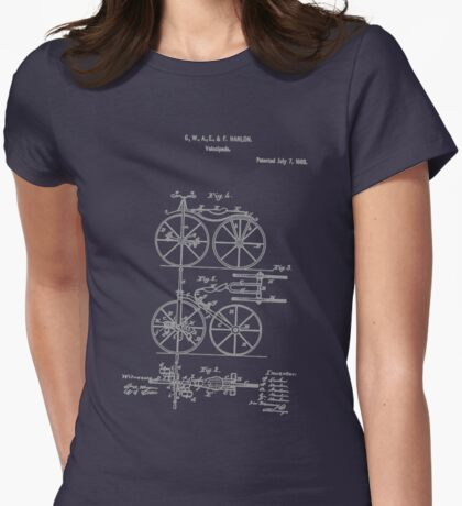 Bike Tricycle Velocipede 1868 Hanlon Womens Fitted T-Shirt