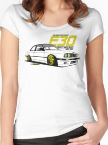 E30 - Beauty and a Beast Women's Fitted Scoop T-Shirt