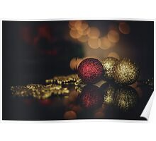 Gold Baubles Poster