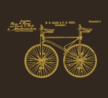 Tandem Bike Velocipede 1891 Peck by SportsT-Shirts