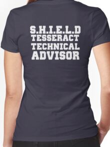 S.H.I.E.L.D Tesseract Technical Advisor Women's Fitted V-Neck T-Shirt