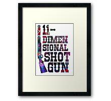 11-dimensional shotgun Framed Print