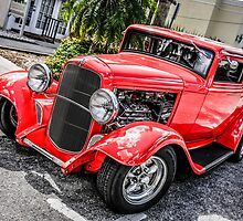 Little red 1936 Ford Coupe by Chris L Smith