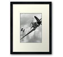Spitfire VS Tie Fighter Framed Print