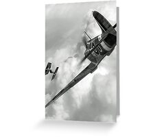 Spitfire VS Tie Fighter Greeting Card