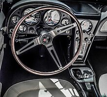 1967 Chevy Corvette convertible Interior by Chris L Smith