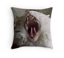 BIG YAWN Throw Pillow