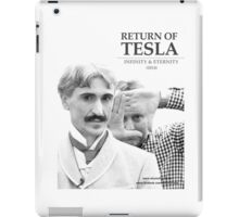Return of Tesla Poster Image 2 Black/White iPad Case/Skin