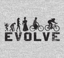 Bike Vintage Women's Evolution of Cycling Evolve by SportsT-Shirts