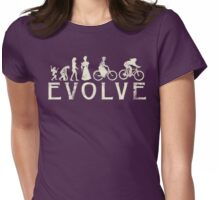 Bike Vintage Women's Evolution of Cycling Womens Fitted T-Shirt
