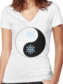 Weiss yin and yang the other yang  Women's Fitted V-Neck T-Shirt