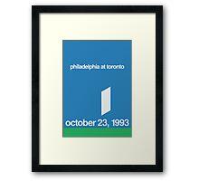 Joe Carter's Walk Off Framed Print