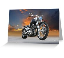 Harley-Davidson Softail Custom Greeting Card