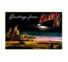 Greetings from Altair IV Art Print