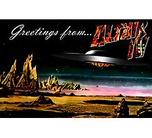 Greetings from Altair IV Photographic Print