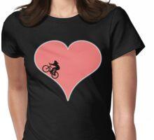 Love Biking Cycling Womens Fitted T-Shirt