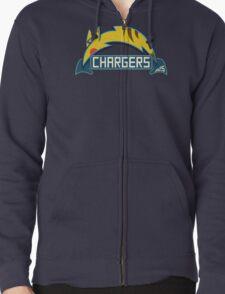 San Diego Chargers Pokemon Mashup Zipped Hoodie