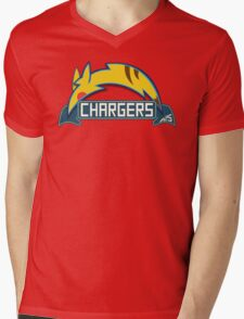 San Diego Chargers Pokemon Mashup Mens V-Neck T-Shirt