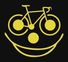Funny Bike Cycling Smiley Face by SportsT-Shirts