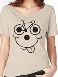 Funny Bike Cycling Face Women's Relaxed Fit T-Shirt