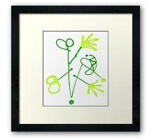 "Energetic Abstractions - ""Gadget Man"" Framed Print"