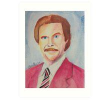 Ron Burgundy Art Print