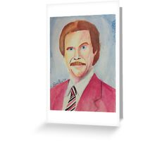 Ron Burgundy Greeting Card
