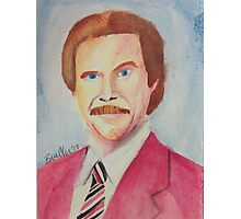 Ron Burgundy Photographic Print