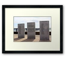 Disaster Monument Framed Print