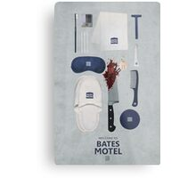 Bates Motel Art Poster Metal Print