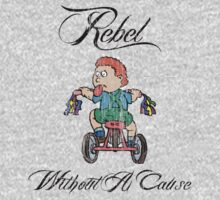 Funny Kid on Tricycle Rebel Kids Clothes