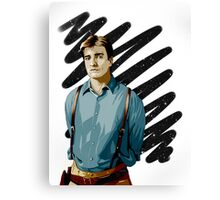 Malcolm Reynolds aka Mal aka… Nathan Fillion Canvas Print
