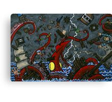 Sink Full Of Blood Canvas Print