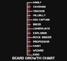 Beard Growth Chart Kids Tee
