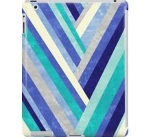 Palisade 2 - Blue Chevron Geometric Abstract iPad Case/Skin