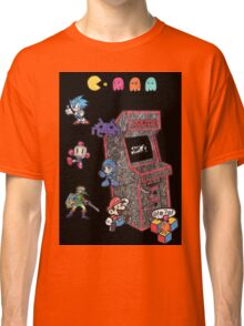 Arcade Game Booth /w background Classic T-Shirt