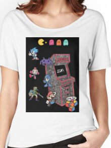 Arcade Game Booth /w background Women's Relaxed Fit T-Shirt