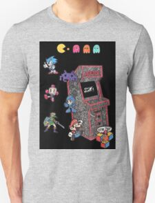 Arcade Game Booth /w background Unisex T-Shirt
