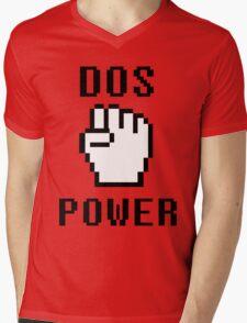 DOS-POWER Mens V-Neck T-Shirt