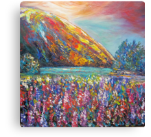 Mountain Lupins Canvas Print