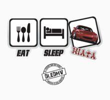 DLEDMV - Eat Sleep Miata Baby Tee