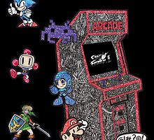 Arcade Game Booth /w background by Pandora's  Scribbles