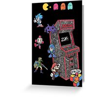 Arcade Game Booth /w background Greeting Card