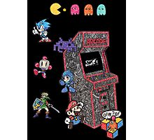 Arcade Game Booth /w background Photographic Print